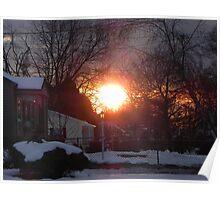 Sunset At Garland Street Poster