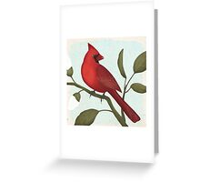 an american red cardinal Greeting Card