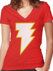 Shazam/ Black Adam Women's Fitted V-Neck T-Shirt
