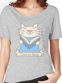 Time to Read Cat Women's Relaxed Fit T-Shirt