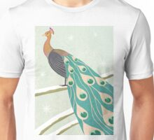 winter christmas peacock Unisex T-Shirt