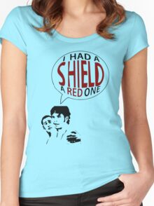 Hal had a shield! A red one! Women's Fitted Scoop T-Shirt