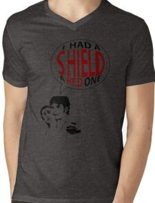 Hal had a shield! A red one! Mens V-Neck T-Shirt