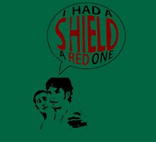Hal had a shield! A red one! Unisex T-Shirt