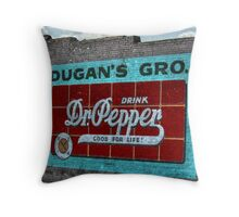 Dr Pepper Mural Throw Pillow