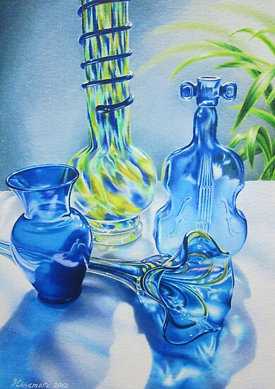 Blues Music in Glass by lanadi