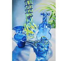 Blues Music in Glass Photographic Print