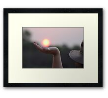The magic of Africa Framed Print