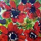 Gorgeous Red Anemones Pattern by Angela Gannicott