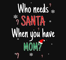 Who Needs Santa! When You Have Mom? Womens Fitted T-Shirt