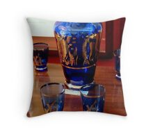 Blue Glassware  ^ Throw Pillow