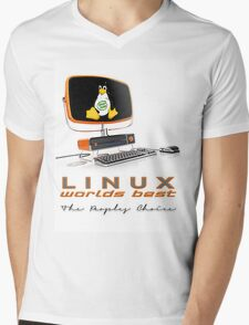Linux Worlds Best - The Peoples Choice Mens V-Neck T-Shirt