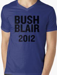 PHONY 2012 - BUSH, BLAIR 2012. Mens V-Neck T-Shirt