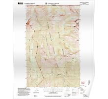 USGS Topo Map Washington State WA Skagit Peak 243738 2002 24000 Poster