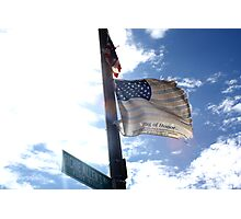 Flag Of Honor  Photographic Print