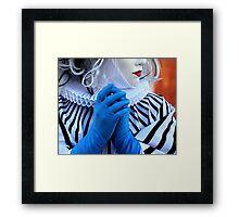Blue Gloves Framed Print