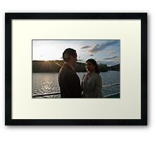 Aimen & Jessie Mouton - Just Married and Can't take their eyes off each other Framed Print