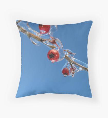 Ice Berrys Throw Pillow
