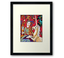 Lady & The Unicorn (La Vue) Framed Print