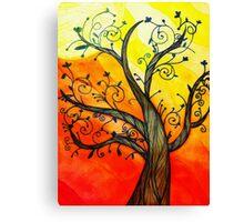 Doodle Tree Canvas Print