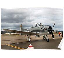 North American T28 Trojan Aircraft Poster