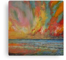 Hidden Heart Lava Sky Canvas Print