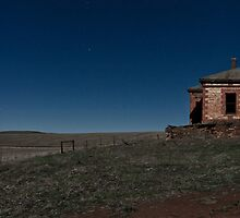 Barrier Highway Ruin in Moonlight by pablosvista2