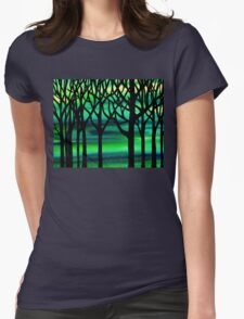 Spring Forest Abstract Painting Womens Fitted T-Shirt