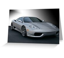 2005 Ferrari F360 Stradale Greeting Card
