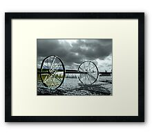 Focal Black and White *ICE WHEEL*~! Framed Print