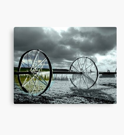 Focal Black and White *ICE WHEEL*~! Canvas Print