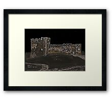 Chepstow's Castle - at Midnight Framed Print