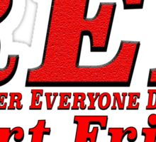Red Shirt Friday Remember Everyone Deployed Sticker