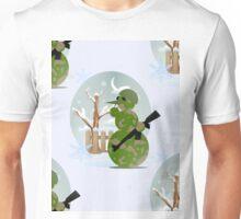camo snowman christmas Unisex T-Shirt