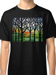 Summer Forest Abstract Painting Classic T-Shirt