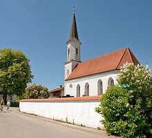 Church in Baierrain by Kasia-D