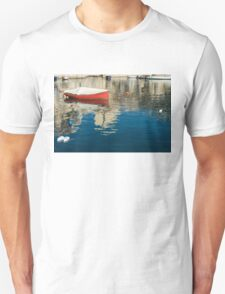 The Red Maltese Boat - a Little Fishing Boat at Anchor T-Shirt