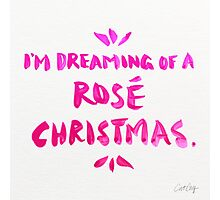 Rosé Christmas Photographic Print