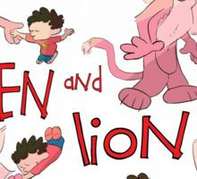 Steven and Lion. Sticker