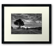 Silent Carriages  Framed Print