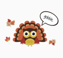 Thanksgiving Gobble Owl One Piece - Short Sleeve