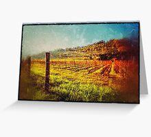 Vineyard hill Greeting Card