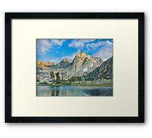 Mountains at morning Framed Print