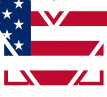 University of Michigan America logo Sticker