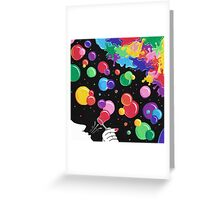Bubbles color the world Greeting Card