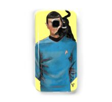 Spock and his cat. Samsung Galaxy Case/Skin
