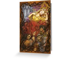 Sleeping Beauty and her dead suitors Greeting Card