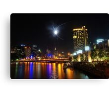 Melbourne's Yarra River on New Year's Eve Canvas Print