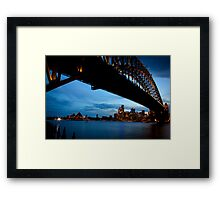 Quiet before evening storm ! Framed Print