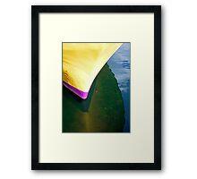 Yellow Hull Framed Print